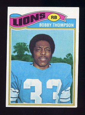 1977 Topps Football #486 Bobby Thompson - Detroit Lions