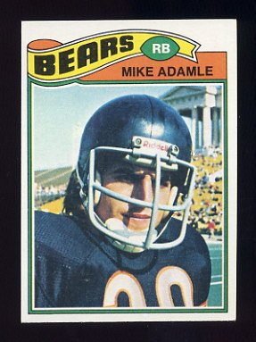1977 Topps Football #481 Mike Adamle - Chicago Bears NM-M