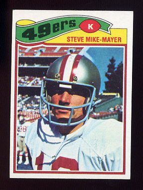 1977 Topps Football #474 Steve Mike-Mayer - San Francisco 49ers