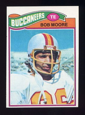 1977 Topps Football #468 Bob Moore - Tampa Bay Buccaneers