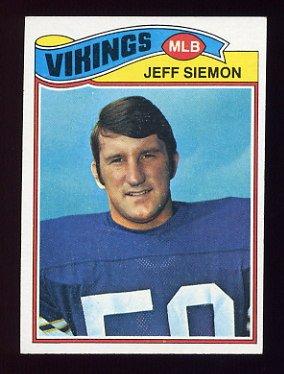 1977 Topps Football #465 Jeff Siemon - Minnesota Vikings