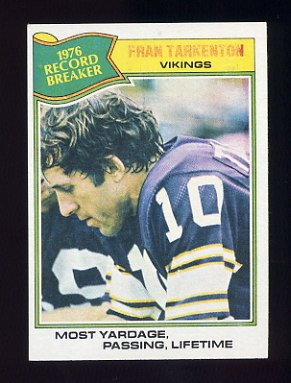1977 Topps Football #454 Fran Tarkenton RB - Minnesota Vikings