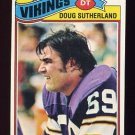 1977 Topps Football #441 Doug Sutherland - Minnesota Vikings