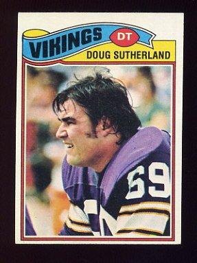 1977 Topps Football #441 Doug Sutherland - Minnesota Vikings