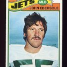 1977 Topps Football #423 John Ebersole - New York Jets