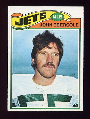 1977 Topps Football #423 John Ebersole - New York Jets