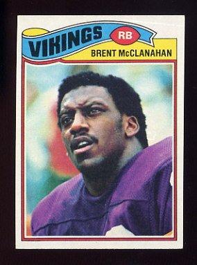 1977 Topps Football #419 Brent McClanahan - Minnesota Vikings