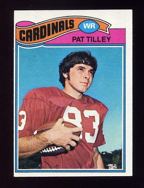 1977 Topps Football #412 Pat Tilley RC - St. Louis Cardinals ExMt