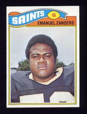 1977 Topps Football #396 Emanuel Zanders - New Orleans Saints