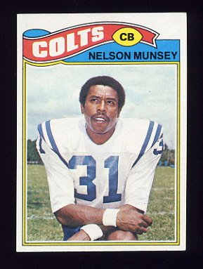 1977 Topps Football #392 Nelson Munsey - Baltimore Colts