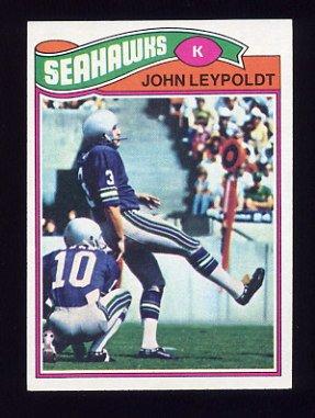 1977 Topps Football #387 John Leypoldt - Seattle Seahawks