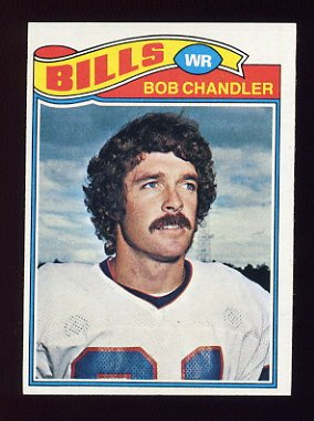 1977 Topps Football #383 Bob Chandler - Buffalo Bills
