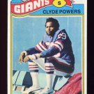 1977 Topps Football #368 Clyde Powers - New York Giants