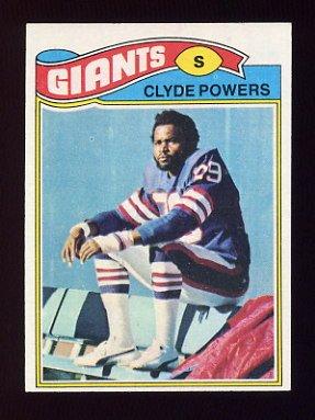 1977 Topps Football #368 Clyde Powers - New York Giants