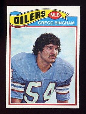 1977 Topps Football #366 Gregg Bingham - Houston Oilers