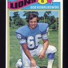 1977 Topps Football #344 Bob Kowalkowski - Detroit Lions