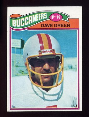 1977 Topps Football #338 Dave Green - Tampa Bay Buccaneers