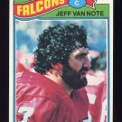 1977 Topps Football #327 Jeff Van Note - Atlanta Falcons