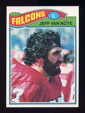 1977 Topps Football #327 Jeff Van Note - Atlanta Falcons