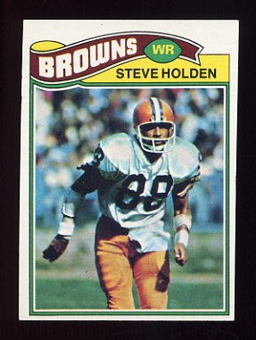 1977 Topps Football #326 Steve Holden - Cleveland Browns