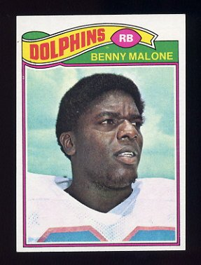 1977 Topps Football #316 Benny Malone - Miami Dolphins