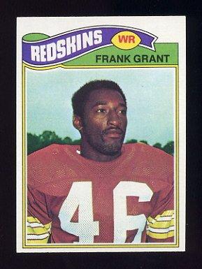 1977 Topps Football #289 Frank Grant - Washington Redskins