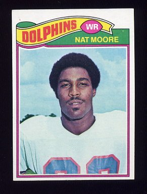 1977 Topps Football #278 Nat Moore - Miami Dolphins