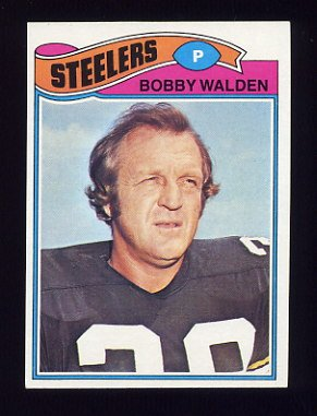 1977 Topps Football #261 Bobby Walden - Pittsburgh Steelers