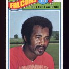 1977 Topps Football #242 Rolland Lawrence - Atlanta Falcons