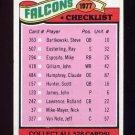 1977 Topps Football #201 Atlanta Falcons CL NM-M