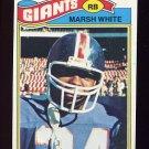 1977 Topps Football #196 Marsh White - New York Giants