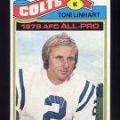 1977 Topps Football #190 Toni Linhart - Baltimore Colts