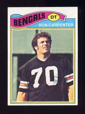1977 Topps Football #168 Ron Carpenter - Cincinnati Bengals