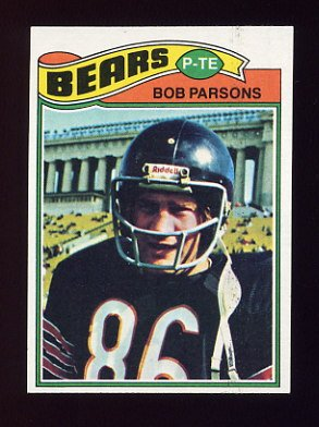 1977 Topps Football #164 Bob Parsons - Chicago Bears
