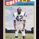 1977 Topps Football #153 Lloyd Mumphord - Baltimore Colts