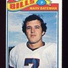 1977 Topps Football #142 Marv Bateman - Buffalo Bills