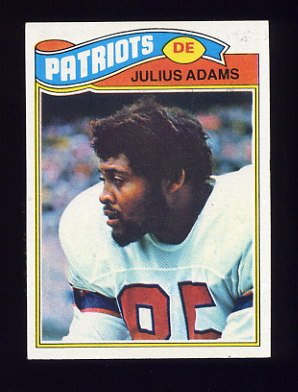 1977 Topps Football #139 Julius Adams - New England Patriots