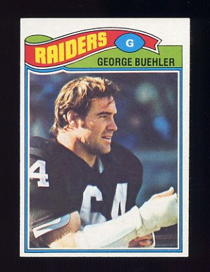 1977 Topps Football #137 George Buehler - Oakland Raiders