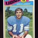 1977 Topps Football #136 Greg Landry - Detroit Lions