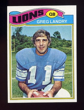 1977 Topps Football #136 Greg Landry - Detroit Lions