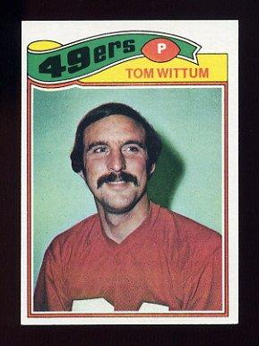 1977 Topps Football #127 Tom Wittum - San Francisco 49ers
