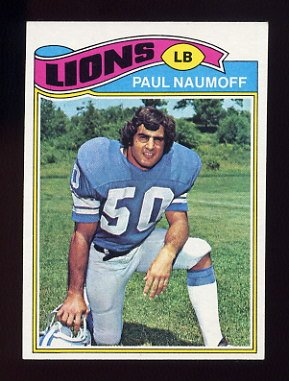 1977 Topps Football #106 Paul Naumoff - Detroit Lions