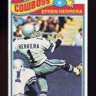 1977 Topps Football #102 Efren Herrera - Dallas Cowboys NM-M
