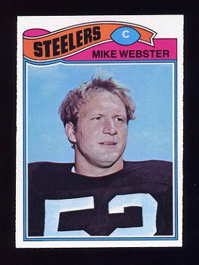 1977 Topps Football #099 Mike Webster RC - Pittsburgh Steelers Ex