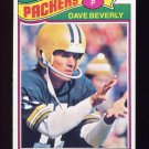 1977 Topps Football #078 Dave Beverly - Green Bay Packers