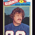 1977 Topps Football #073 Doug Van Horn - New York Giants
