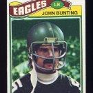 1977 Topps Football #056 John Bunting - Philadelphia Eagles