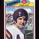 1977 Topps Football #046 Fred Cox - Minnesota Vikings NM-M