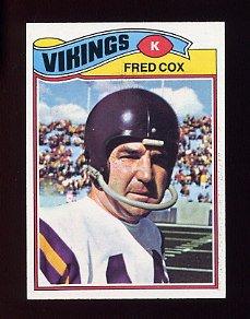1977 Topps Football #046 Fred Cox - Minnesota Vikings NM-M