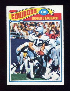 1977 Topps Football #045 Roger Staubach - Dallas Cowboys Ex